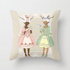 Fawns of the Royal Palace Throw Pillow