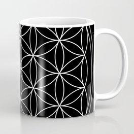 Flower of Life Black & White Coffee Mug