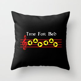 Time For Bed - Zeldas Lullaby (The Legend Of Zelda: Ocarina Of Time) Throw Pillow