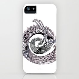 Peacock Spiral iPhone Case