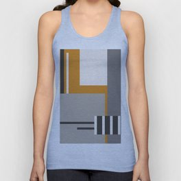 PLUGGED INTO LIFE (abstract geometric) Unisex Tank Top