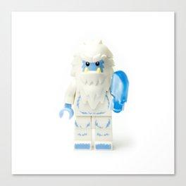 White Yeti Minifig eating an icecream Canvas Print