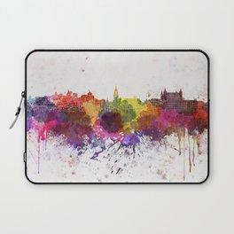 Toledo skyline in watercolor background Laptop Sleeve