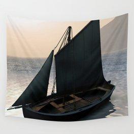 Fishing Sailboat at Dawn by Marijan Zubak Wall Tapestry