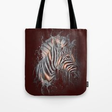 DARK ZEBRA Tote Bag