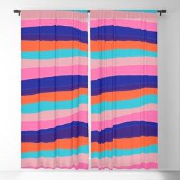 '67 sunset stripes Blackout Curtain
