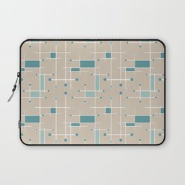 Intersecting Lines in Tan, Turquoise and Sea Foam Laptop Sleeve