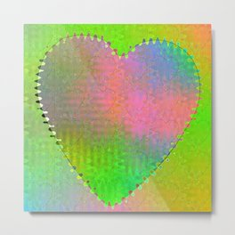 Multicolored Hearts Metal Print