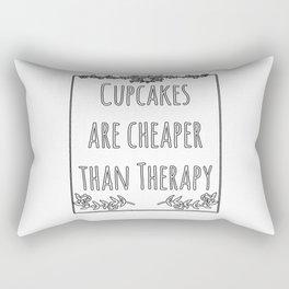 Cupcake Therapy Muffin Sprinkles Topping Sweet Cake Rectangular Pillow