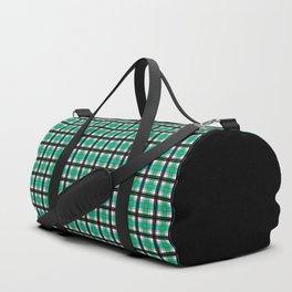 Plaid tartan green Duffle Bag