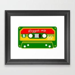 REGGAE MIX TAPE Framed Art Print