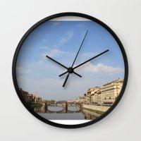 italy Wall Clocks featuring Italy by karleegerrand