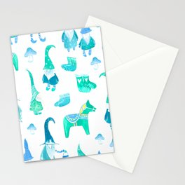 Tomte, Nisse, Swedish gnomes Stationery Cards
