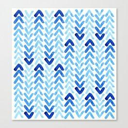Blue Watercolour Arrows Canvas Print