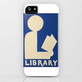 Library Sign iPhone Case
