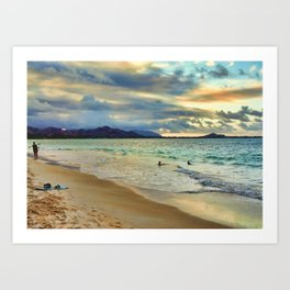 Oahu Island Sunset  Art Print