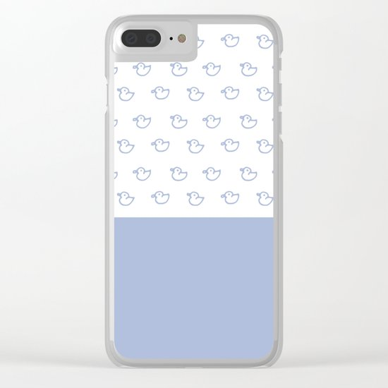 Ducklings light blue Clear iPhone Case