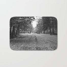 Walking Down A Wooded Road Bath Mat
