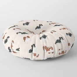Cavalier King Charles Spaniels Mully and Sojo Floor Pillow