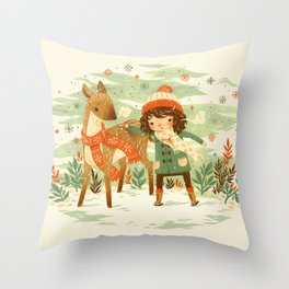 A Wobbly Pair Throw Pillow
