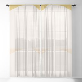 Abstract Geometric 01 Sheer Curtain