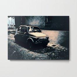 Vintage Car in Italian Noir Metal Print