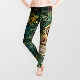Shakyamuni Buddha - Enlightenment, Peace and Happiness Leggings