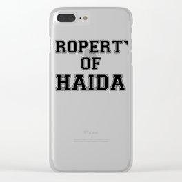 Property of HAIDA Clear iPhone Case