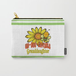 Unbelievable Granddaughter Sunflowers and Bees Carry-All Pouch