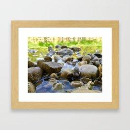 Stuck Between a Rock and a Wet Place Framed Art Print