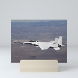 872. NASA F-15B #836 in flight with Quiet Spike attached Mini Art Print