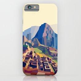 Geometric Machu Picchu, Peru iPhone Case