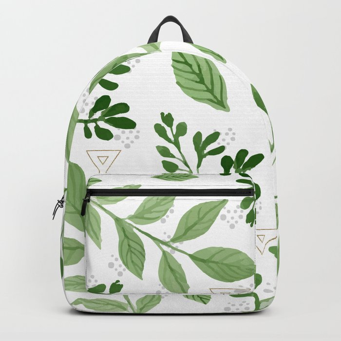 Plants with triangles Backpack