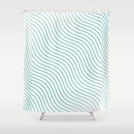Tirquaz wavy modern lines Shower Curtain