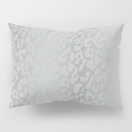 White Silver Leopard Print Pillow Sham