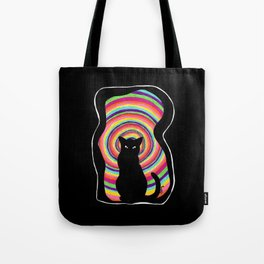 time for child stories: the BLACK CAT Tote Bag