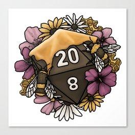 Honeycomb D20 Tabletop RPG Gaming Dice Canvas Print