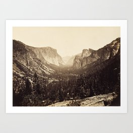 View from Inspiration Point, 1879 Art Print