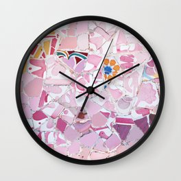 Tiling with pattern 5 Wall Clock