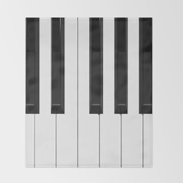 Piano / Keyboard Keys Throw Blanket