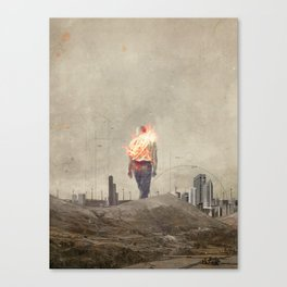 These cities burned my soul Canvas Print