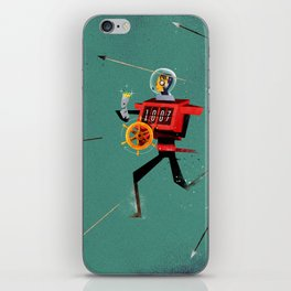 The Time Travelling Pirate iPhone Skin