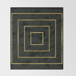 Golden Squares Throw Blanket
