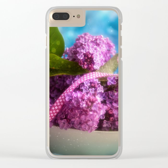 Syringa vulgaris #lilac still life Clear iPhone Case