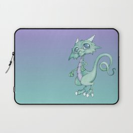 Silly Green Blue Dragon Laptop Sleeve