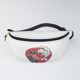 Artistic Yin and Yang Japanese Koi Fish Yin Yang Symbol  Fanny Pack