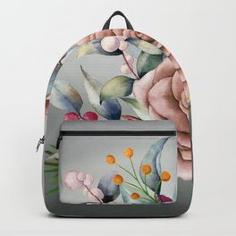 Winter Rose and Pepper Berries Backpack