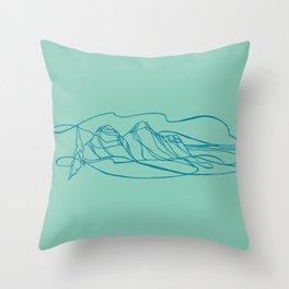 Peaking Above Revelstoke, British Columbia Throw Pillow