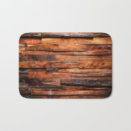Beautifully Aged Wood Texture Bath Mat