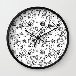 Bad Girl Rockabily Wall Clock